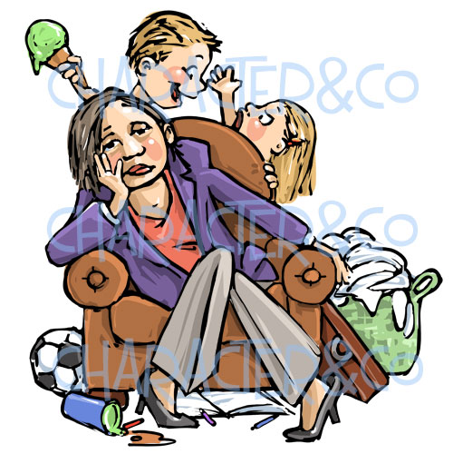 lady-tired-overworked-housecleaning-clipart-watermark-mum-clipart-rgmsb7-clipart